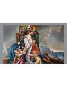 Azulejo rectangular del Descendimiento de Jesús