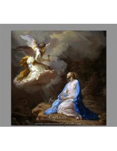 Azulejo cuadradode Jesús orando en el Huerto