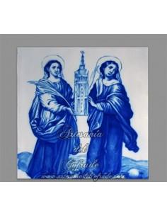 Azulejo cuadrado de Santa Justa y Rufina