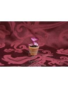 Maceta con flores rosas  para Belen
