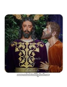 Imán cuadrado plastico del Cristo del Beso de Judas (Sevilla)